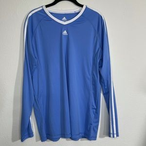 ADIDAS Long Sleeve Workout Shirt Periwinkle Blue